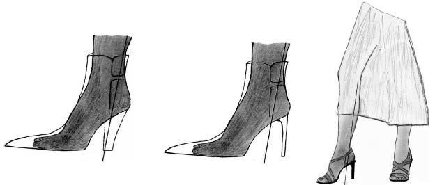 (illustration vente /Le talon béquille - AlainMadec.com)